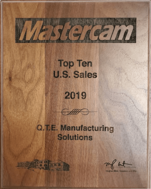 QTE Manufacturing Solutions Top 10 US Sales
